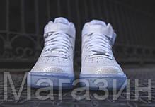 Мужские высокие кроссовки Nike Air Force Найк Аир Форс белые, фото 2
