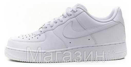 Мужские кроссовки Nike Air Force Найк Аир Форс белые