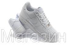 Мужские кроссовки Nike Air Force Найк Аир Форс белые, фото 2