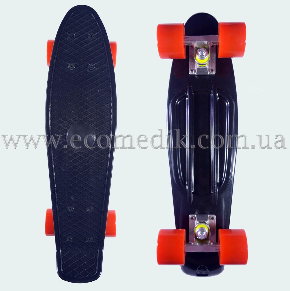 """Стильный скейтборд пенни борд черный penny board original 22"""""""