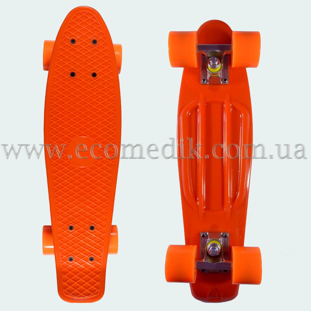"""Стильний скейтборд пенні борд помаранчевий penny board original 22"""""""