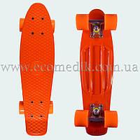 """Стильний скейтборд пенні борд помаранчевий penny board original 22"""", фото 1"""