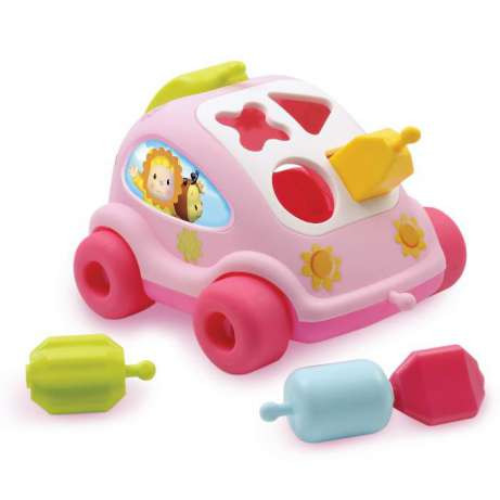 Сортер машинка розовая Cotoons Smoby 211118