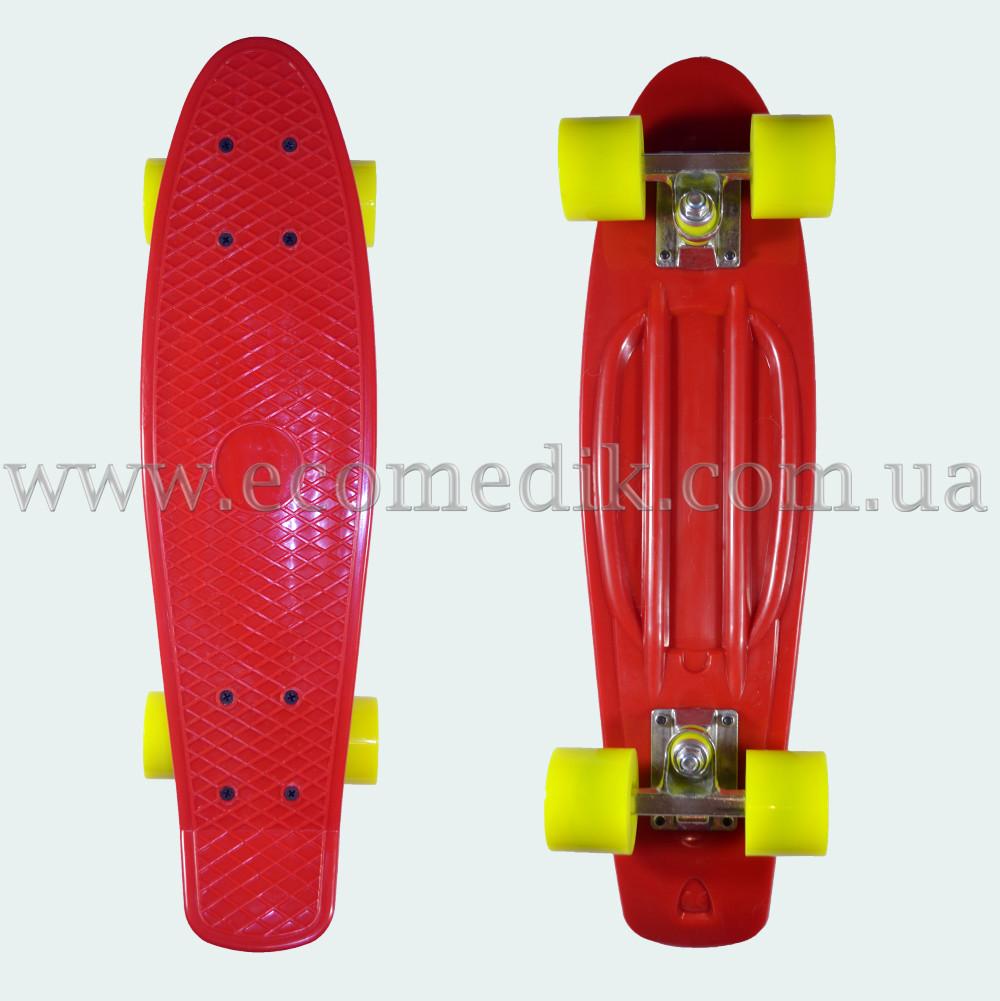 """Стильный скейтборд пенни борд красный penny board original 22"""""""