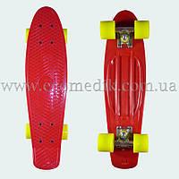 """Стильный скейтборд пенни борд красный penny board original 22"""", фото 1"""