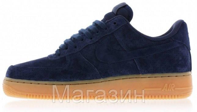 Мужские кроссовки Nike Air Force 1 Найк Аир Форс синие