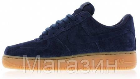 Мужские кроссовки Nike Air Force 1 Найк Аир Форс синие, фото 2
