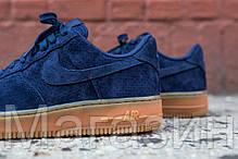Мужские кроссовки Nike Air Force 1 Найк Аир Форс синие, фото 3