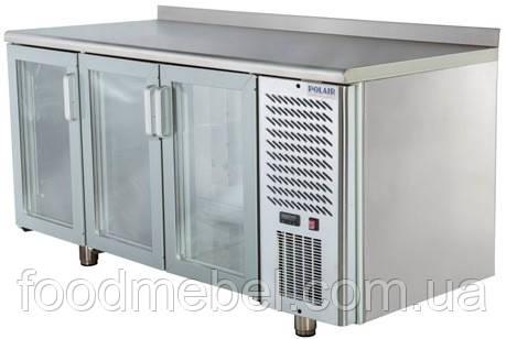Стол холодильный Polair TD3GN-G трехдверный со стеклянными дверями