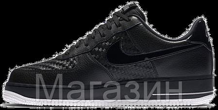 Мужские кроссовки Nike Air Force 1, найк аир форс черные, фото 2