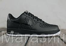 Мужские кроссовки Nike Air Force 1, найк аир форс черные, фото 3