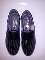 Обувь детская. Туфли для мальчика. Кожа, черний. 34