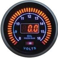 Дополнительный прибор Ket Gauge LED 96184 вольтметр+давление масла. Харьков.