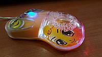 """Проводная мышка для ноутбука или ПК с подсветкой """" Ножка """""""