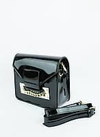 Сумка женская черная лаковая (03-011)