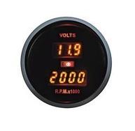 Дополнительный прибор Ket Gauge LED 86105 тахометр+вольтметр.