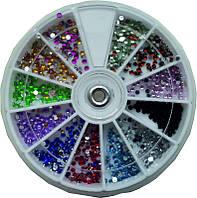 Контейнер-карусель разноцветные стразы Diamond Professional