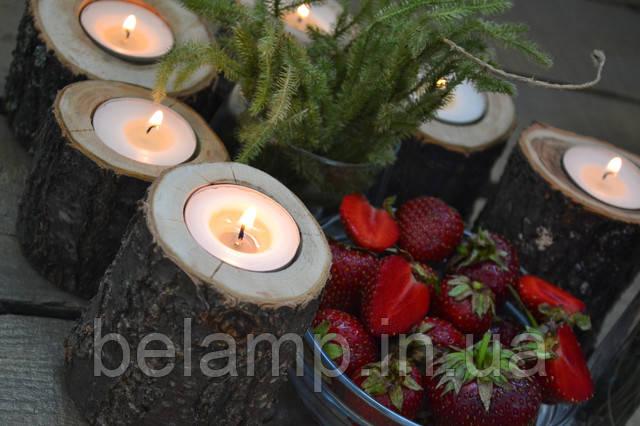 Презентация набора из 6 подсвечников из дерева в стиле рустик: купить в Украине такие вы можете только у нас.