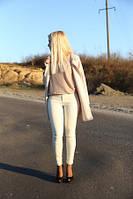 Брюки женские бежевого цвета, брюки летние облегающие, фото 1