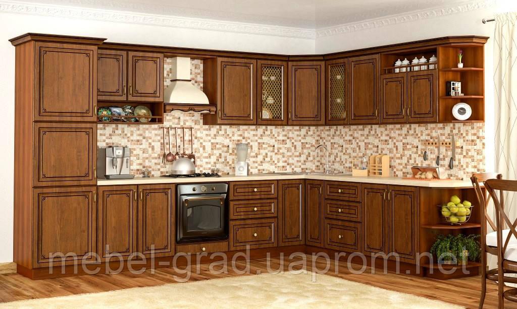 Кухня Гранд Мебель Сервис цвет дуб золотой
