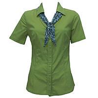 Рубашка салатовая с галстуком