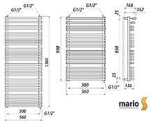 Полотенцесушитель MARIO Премиум Марио 900/560/500 водяной , фото 2