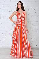 Летнее платье сарафан в пол классического силуэта