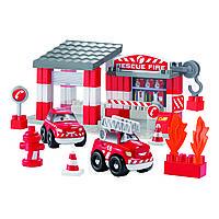 Конструктор «Ecoiffier» (3080) Пожарное депо, 59 элементов