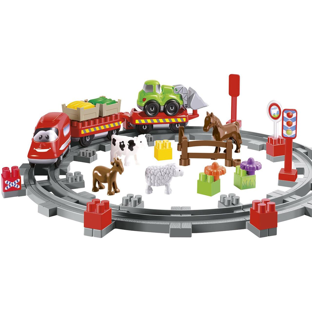 Конструктор «Ecoiffier» (003068) Сельская железная дорога
