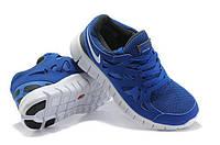 Кроссовки Nike мужские free run 2.0, сетка (фри ран синие)