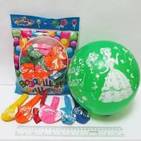 """Воздушные шары 8496 """"Принцесса самая красивая"""" диаметр 30см (упаковка 50шт)"""