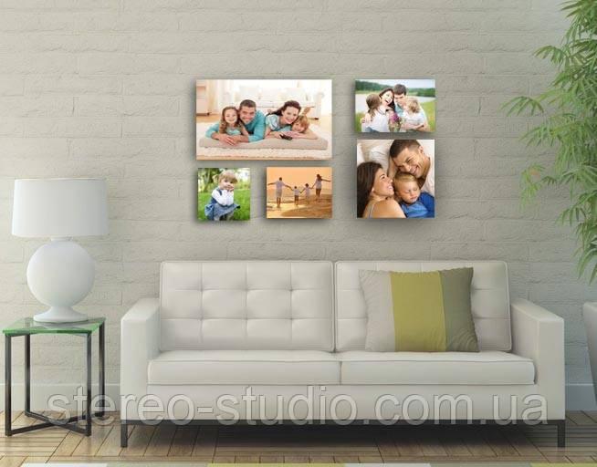 Семейные фото  на холсте