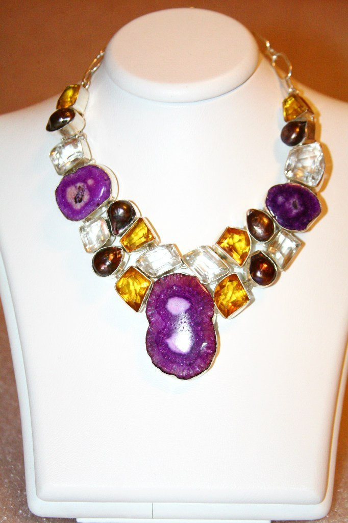 Индийские браслеты с фианитами и натуральными камнями