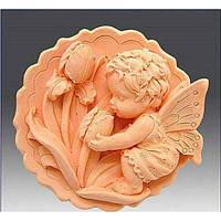 Ангелочек с тюльпанами 2D