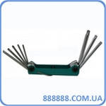 Набор ключей Torx с отверстием (складной) 8 пр. (Т9Н - Т40Н) 5083TF Force