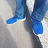 Кроссовки Nike мужские Roshe Run 2016 (рош раны) синие и подошва белая