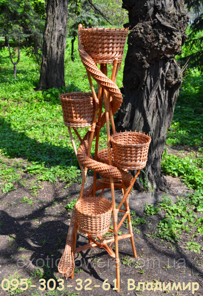 Вежа-змія на 5 чаш, підставка для квітів