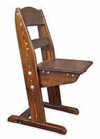 Детский растущий стульчик из сосны (тонированный)