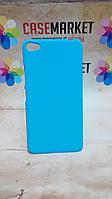 Пластиковый бампер Софт Тач для Lenovo S60 голубого цвета