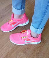 Кроссовки Nike женские  Free Run 5.0  (фри ран 2016), розовые