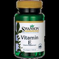Витамин Е, токоферол Swanson 400 мкг 60 капсул