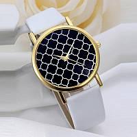 Часы наручные женские GENEVA (ЖЕНЕВА) оригинальный циферблат белые