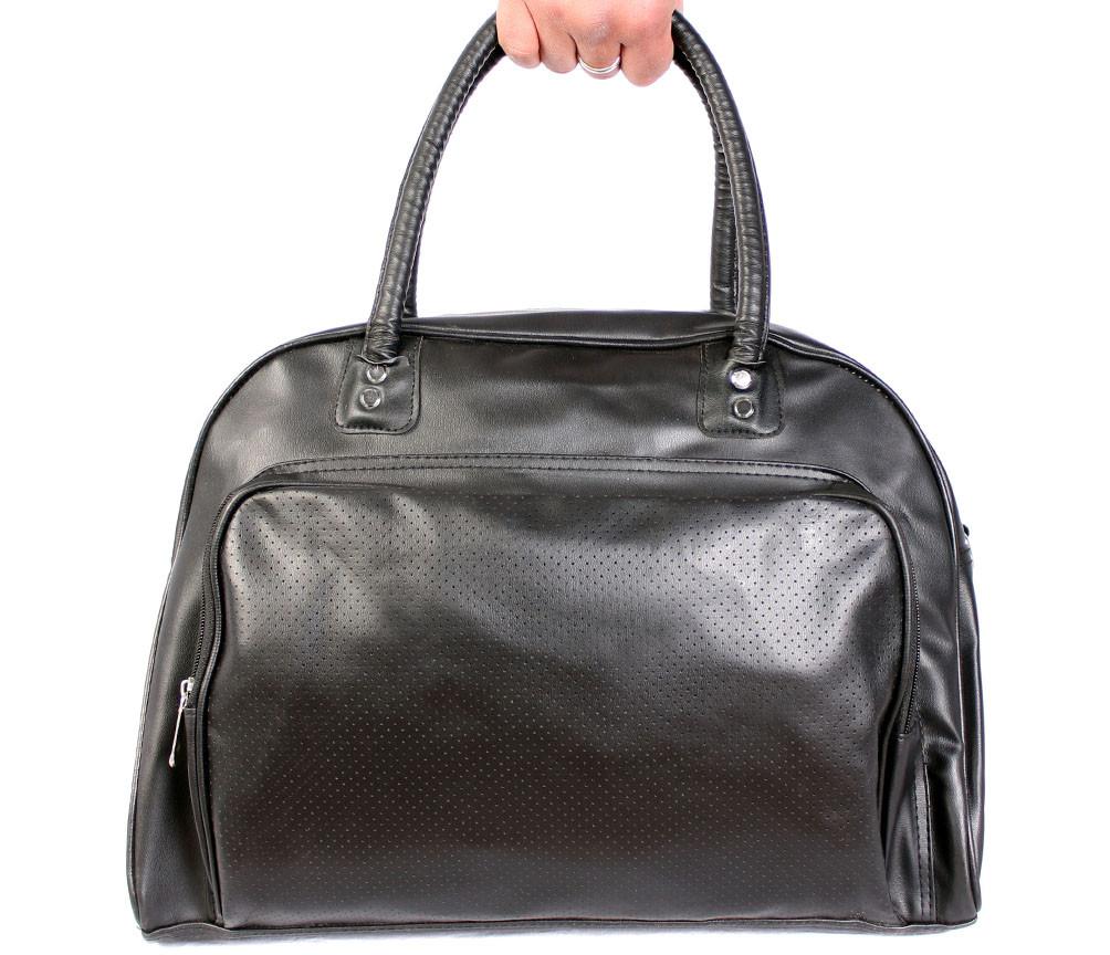 Дорожная сумка из искусственной кожи 30302 черная