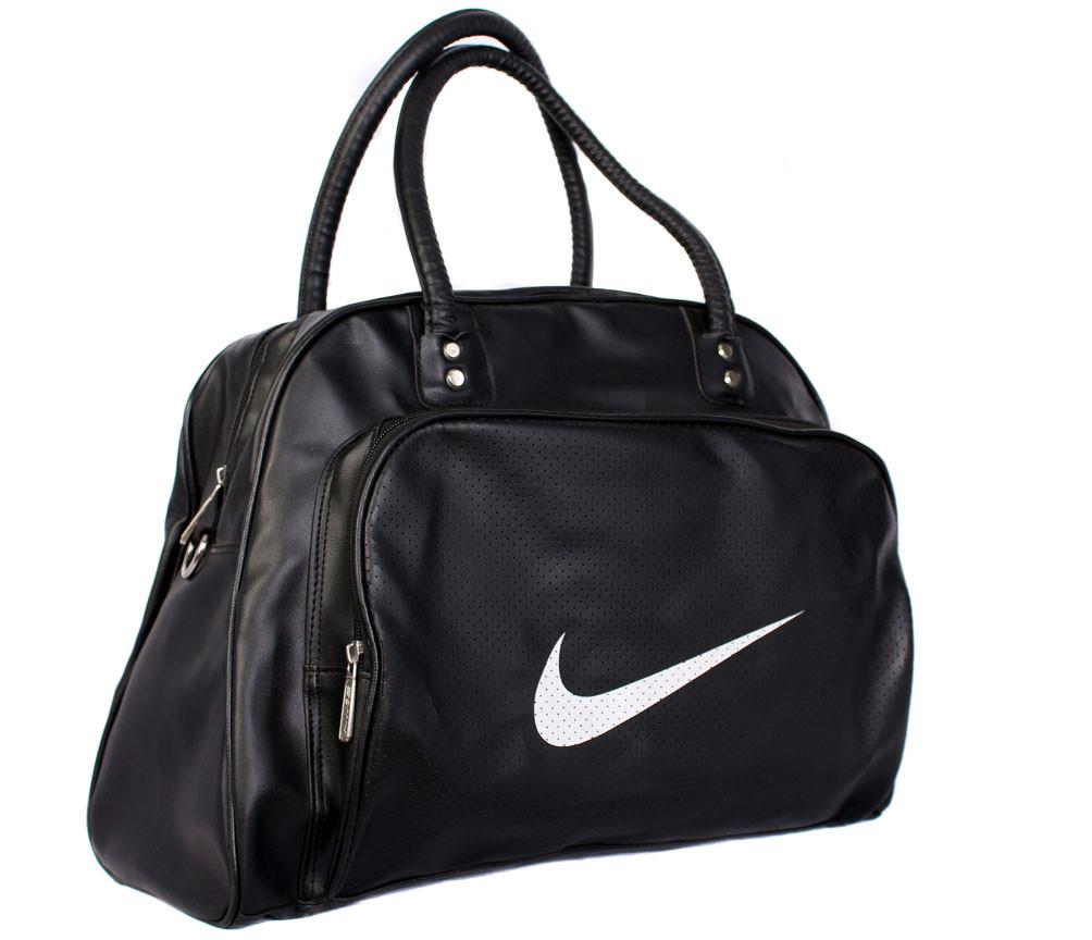 Дорожная сумка из искусственной кожи 30303 черная