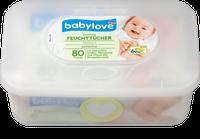 Вологі серветки Babylove Sensitive 80 шт + Box