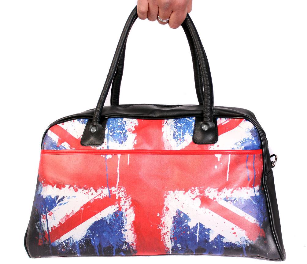 Дорожная сумка из искусственной кожи 30306 черная
