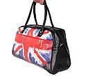 Дорожная сумка из искусственной кожи 30306 черная, фото 2
