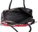 Дорожная сумка из искусственной кожи 30306 черная, фото 6
