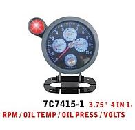 Дополнительный прибор Ket Gauge 7C 7415 -1тахометр+t воды+давление масла+вольтметр.Тюнинг салона.