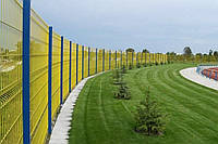 Ограждение, секционный забор, сварной, секции ограждения, заборы из сварной сетки (3/4мм) 1м.кв.